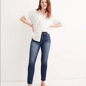 Madewell Blue Slim Straight Jeans 29